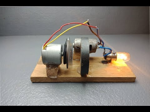 Experiment free energy generator 100% self running dc motor