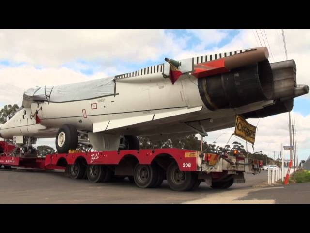 F-111 A8-132 Arrives at Edinburgh South Australia