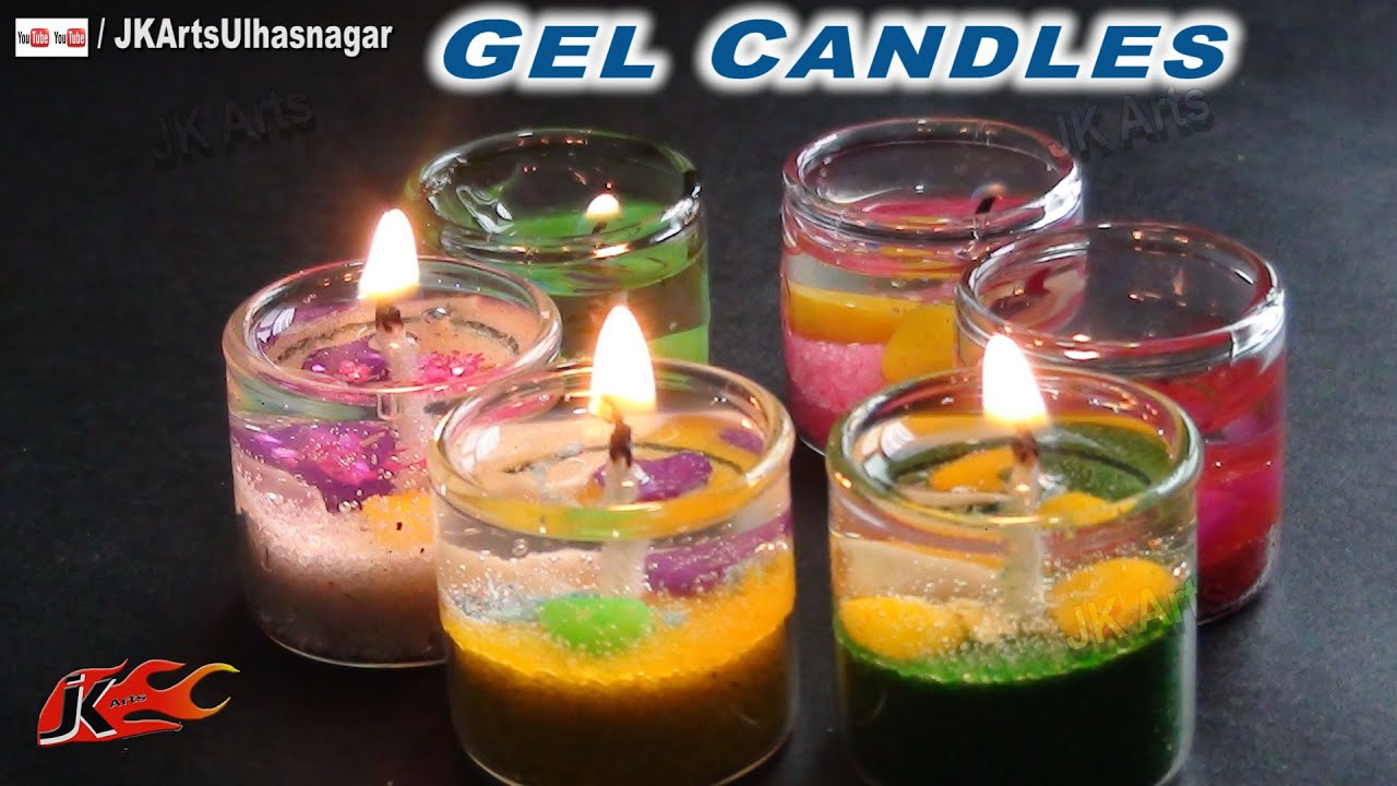 How to make gel candles with your own hands 26