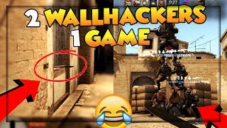 😂JEG SPILLER MED TO WALLHACKERS😂 - CS:GO FUNNY MOMENTS #16