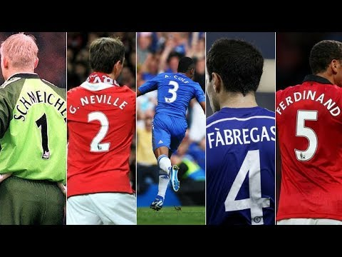 Most Iconic Premier League Players To Wear Jersey Number 1 To 20
