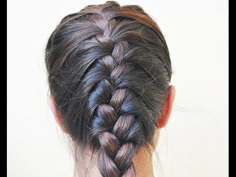 Tranças embutida no penteado