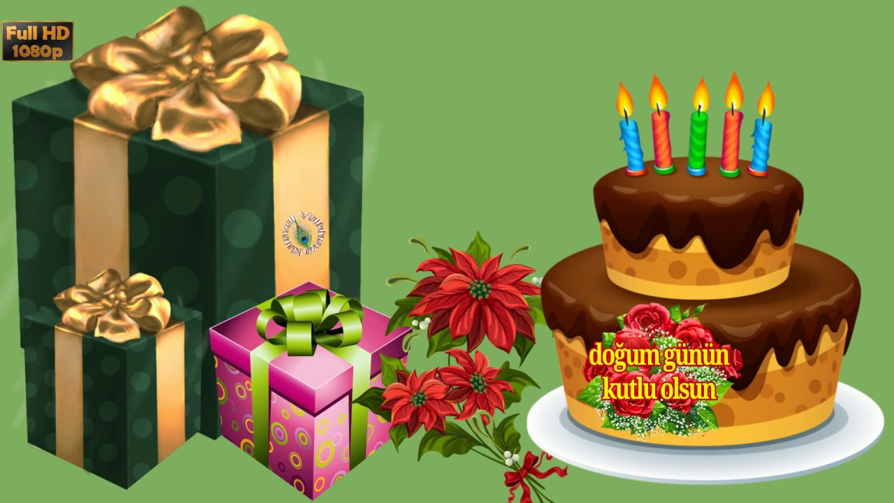 Happy Birthday in Turkish, Greetings, Messages, Ecard, Animation