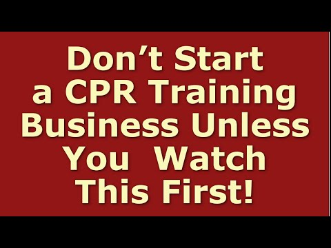 How To Start A CPR Training Business | Including Free CPR Training Business Plan Template