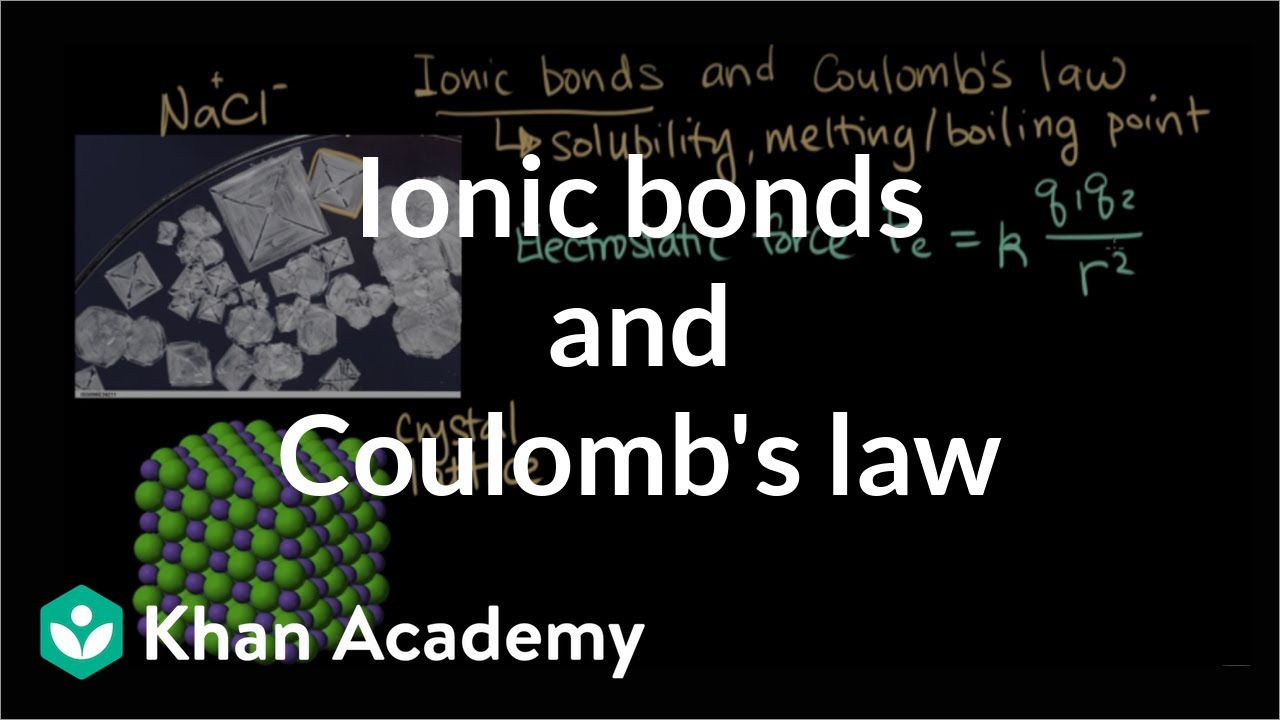 Ionic bonds and Coulombs law (video) | Khan Academy