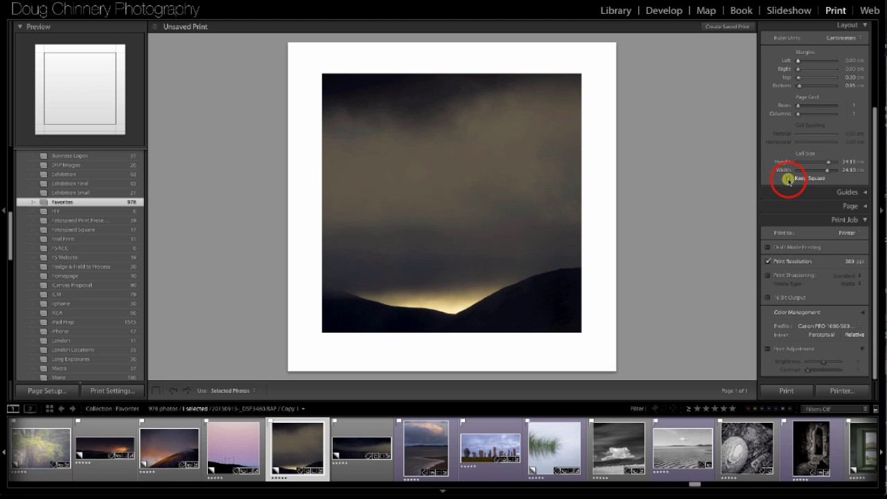 Creating Custom Square Fotospeed Paper Size Templates in Lightroom ...