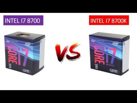 i7 8700k vs i7 8700 - GTX 1060 6GB - New Games Benchmarks Comparison