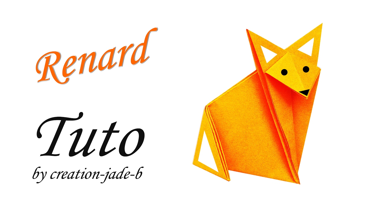 Tuto origami facile petit renard fox youtube - Video d origami facile ...