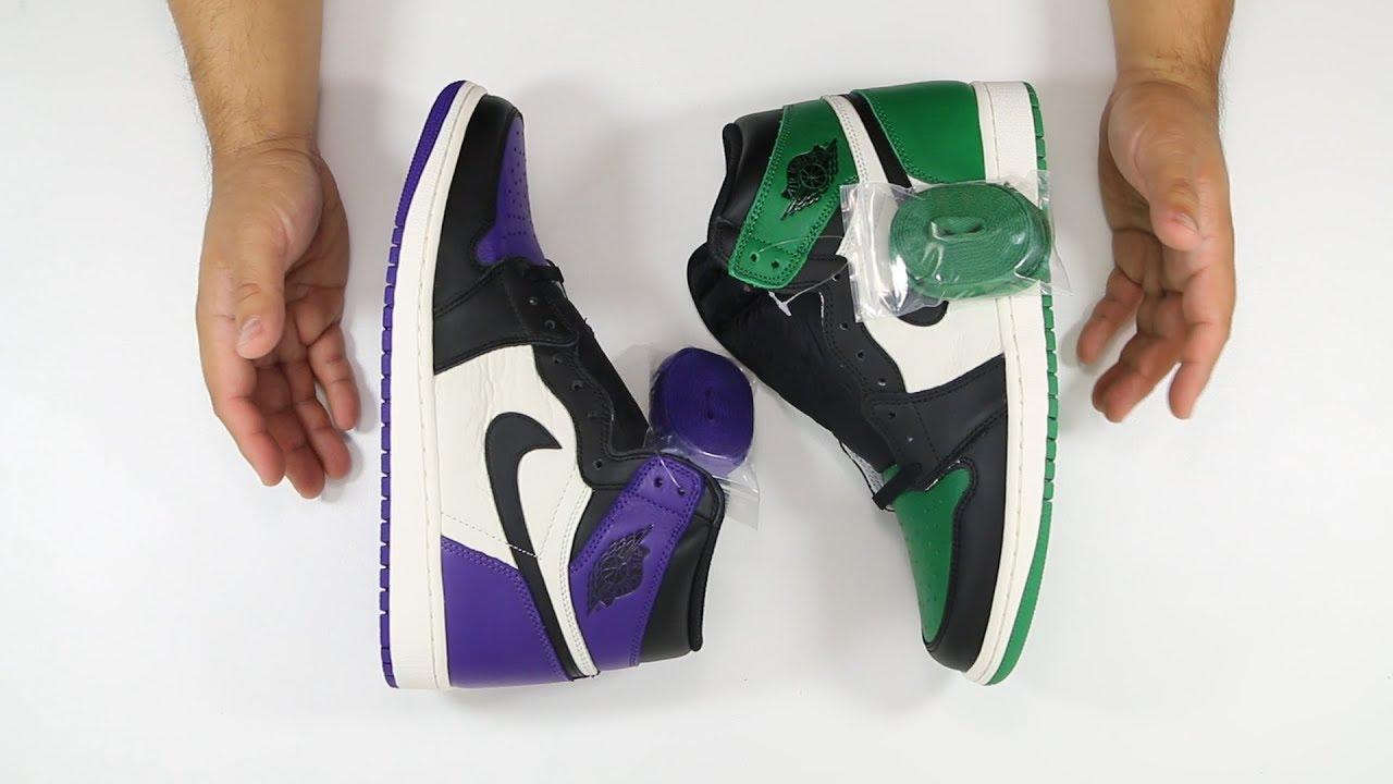 c6939a7916fd1d The Air Jordan 1 Court Purple   Pine Green