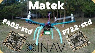 Matek F722-STD and F405-STD обзор и тесты отличных полетников под Inav !