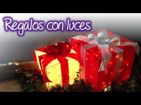 Regalos navideños con luces , Christmas gift boxes with lights - YouTube
