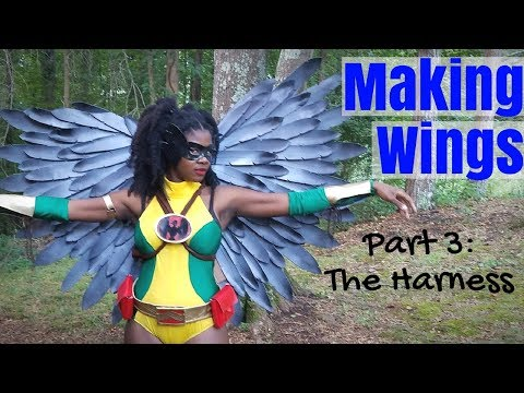 Making Cosplay Wings Part 3- The Harness