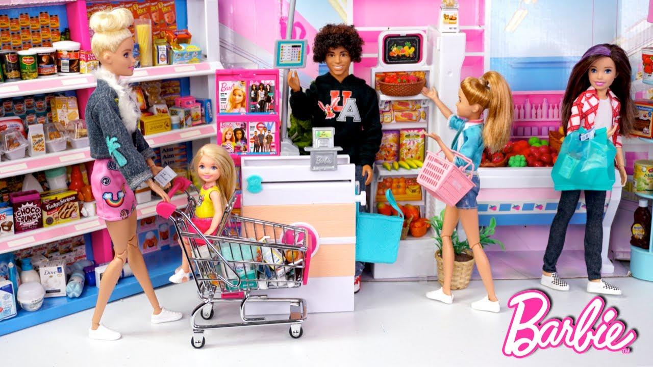 Supermercado de Muñecas y Abriendo Juguetes Rement