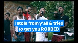 Woman tried to get NBA YoungBoy / Ben 10 & crew R()bbed & stole from them.
