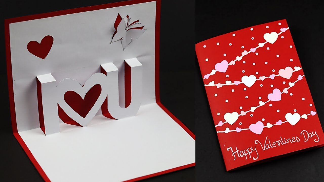 3d I Love You Pop Up Card For Valentine S Day Anniversary Love Greeting Card Making Ideas Youtube