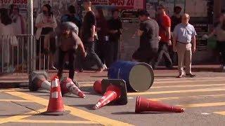 Hong Kong rioters disrupt Monday morning rush hour