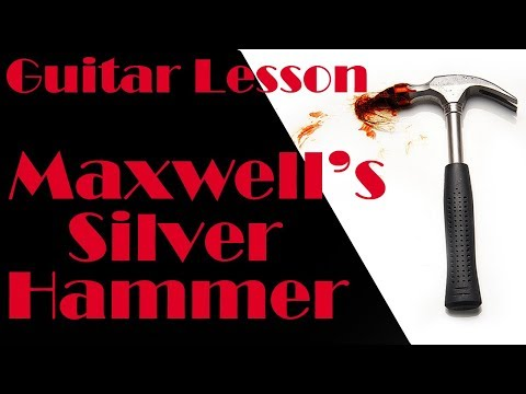 Maxwells Silver Hammer - Guitar lesson - The Beatles - Acoustic