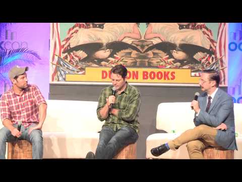 Nick Offerman, John Hodgman, Paul Rudd talk GUMPTION at BookCon 2015 (Full Panel)