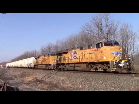 Trains on the CSX Rochester Sub February 2016
