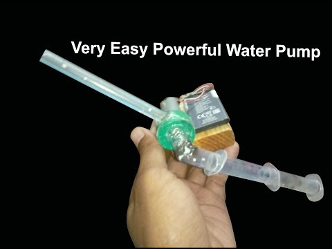 How To Make Mini Water Pump Very Easy Home | Battery Rechargeable Water Pump | New Creative 2019