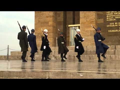 Changing of the Guard at Ataturk's Mausoleum (Ankara, Turkey)
