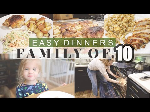 BIG FAMILY MEAL IDEAS! \\ Cook With Us For Our Large Family of 10!