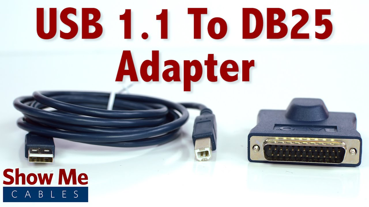easy to use usb 1 1 to db25 adapter connect serial devices to your laptop 23 107 020 [ 1280 x 720 Pixel ]