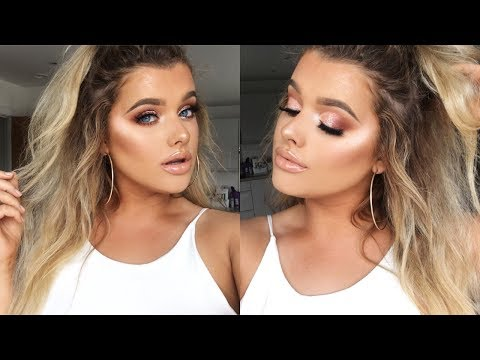 ROSE GOLD SUMMER GLAM AF MAKE UP TUTORIAL! | Rachel Leary