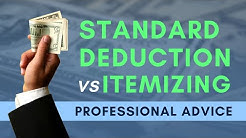 Itemizing vs  Standard Deduction: 2017 to 2018