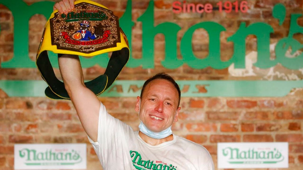 No fans, no problem: Joey Chestnut sets record, cruises to 13th ...