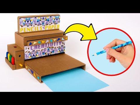 Wie man eine Bleistift-Anspitz-Maschine aus Pappe macht ✏️