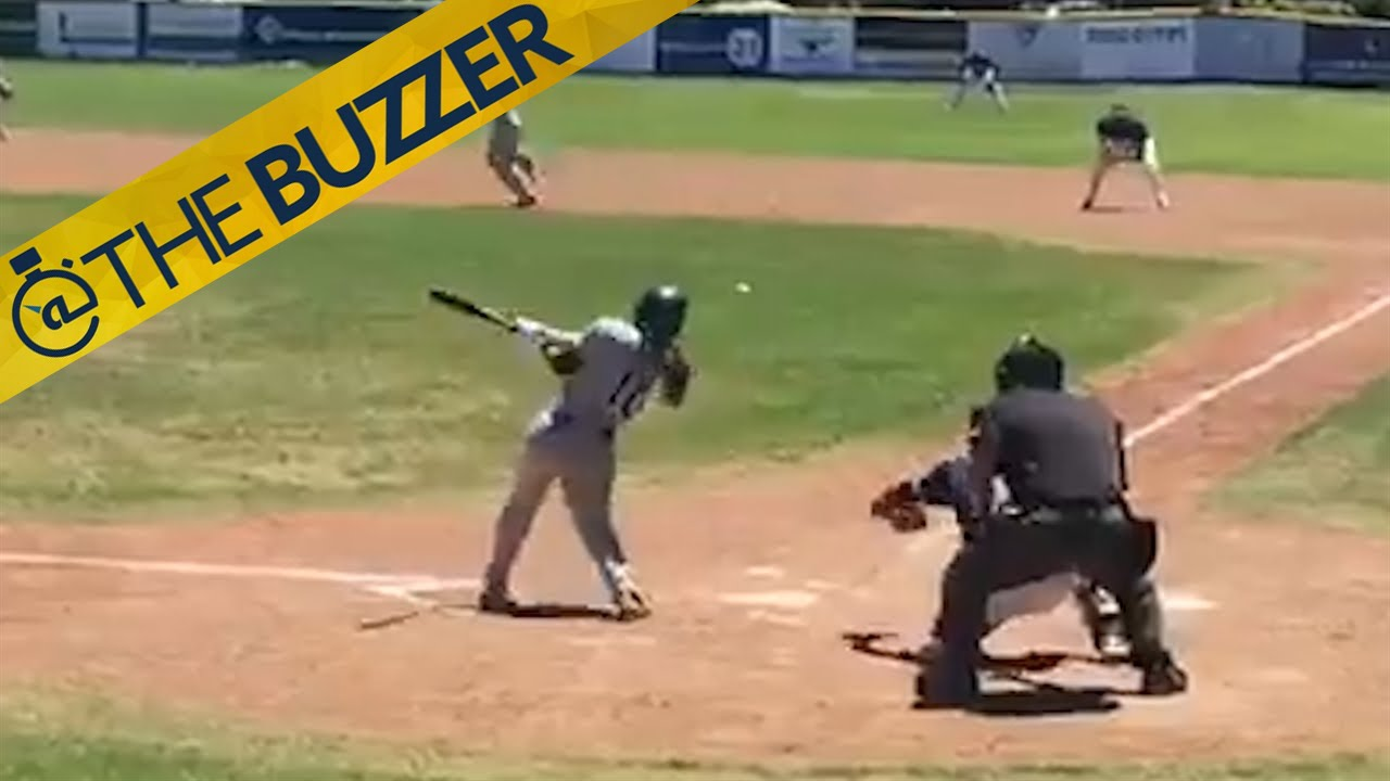Female Baseball Player Gets Her First Hit In Men S Independent League Has Great Reaction
