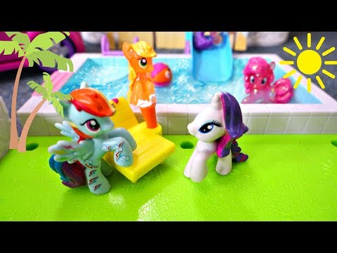 My Little Pony Beach And Pool Party Vacation! Part 1 | Mommy Etc