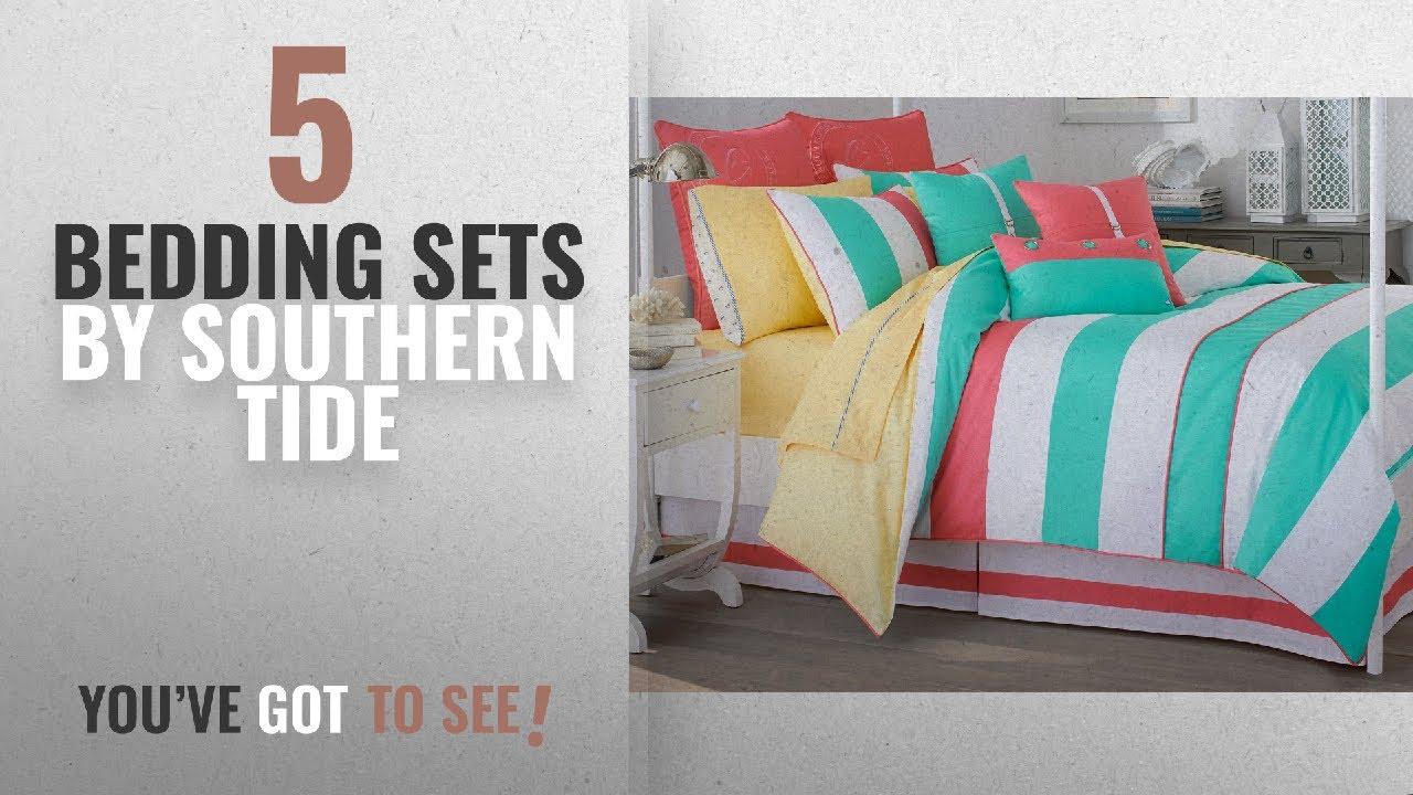 Top 10 Southern Tide Bedding Sets 2018 Cabana Stripe Queen Comforter Set