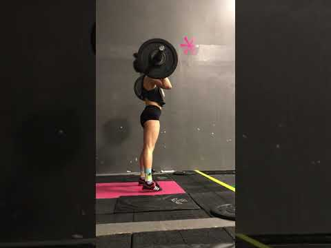 Power clean and jerk 50%x3