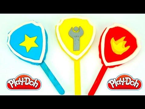 Видео, Щенячии Патруль пластилин плеи-до. Лепим мороженое с логотипами героев мультика