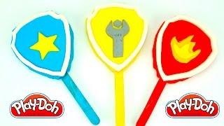 Щенячий Патруль пластилин плей-до. Лепим мороженое с логотипами героев мультика