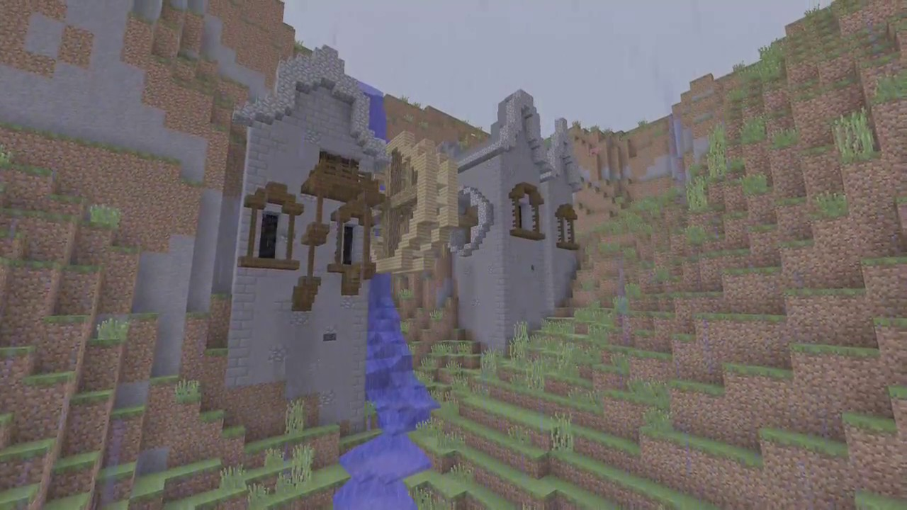 Minecraft Waterfall House  From Grian Tutorial