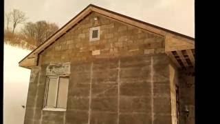 как построить дом из арболита часть -2