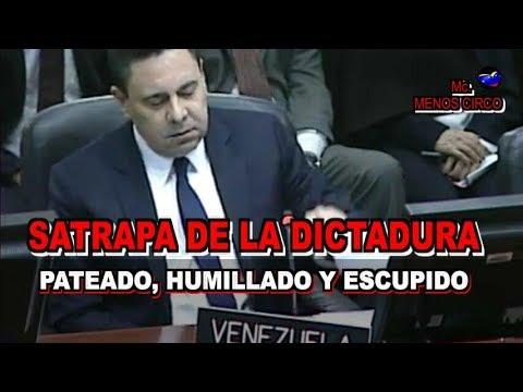 HUMILLADO EN LA OEA, SAMUEL MONCADA REPRESENTANTE DE MADURO