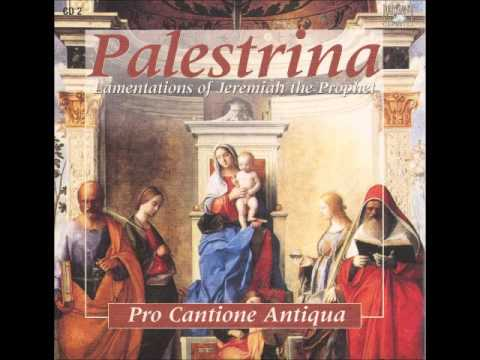 Palestrina Lamentations Of Jeremiah The Prophet vol. 02