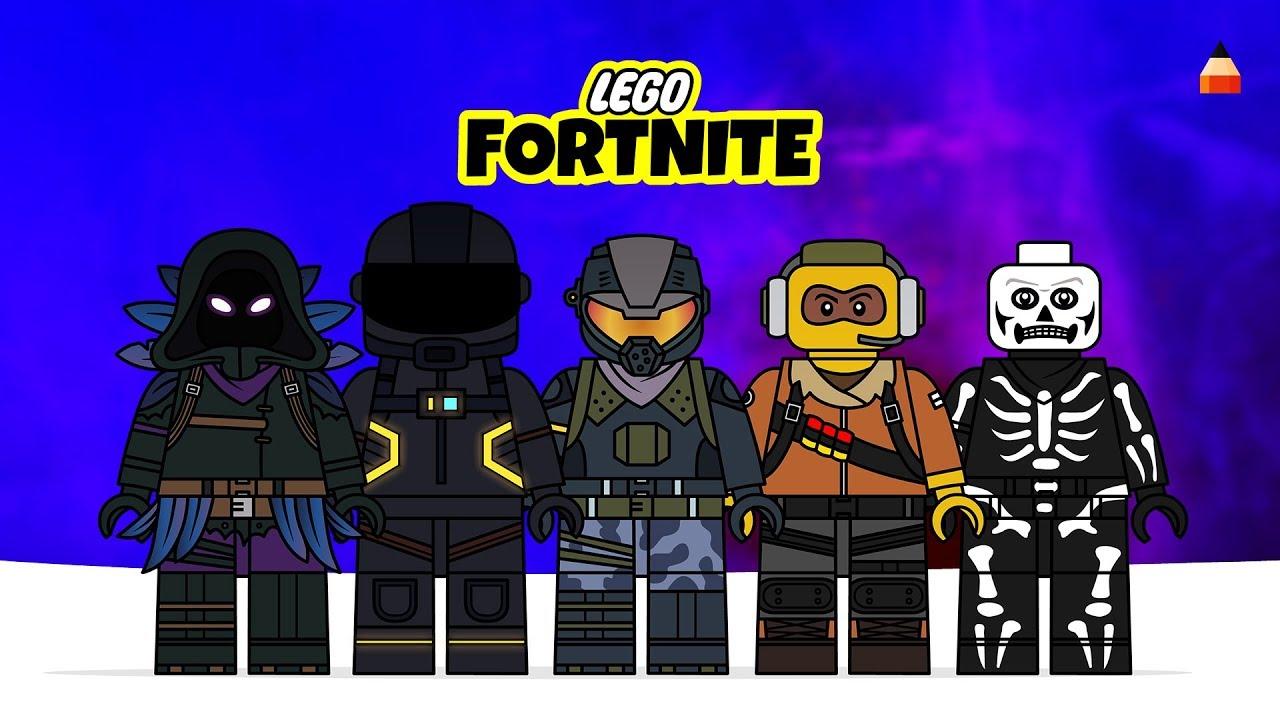 Lego Fortnite Battle Royale Minifigures Drawing Lego