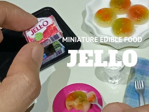 Mini Jello How to make Cathedral Window (Mini food) (Miniature Cooking) (ASMR) (DIY) (Kids' toys)