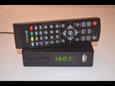 SIMAX HDTR871F2 Т2  тюнер ресивер  DVB T2 обзор, настройка, подключение