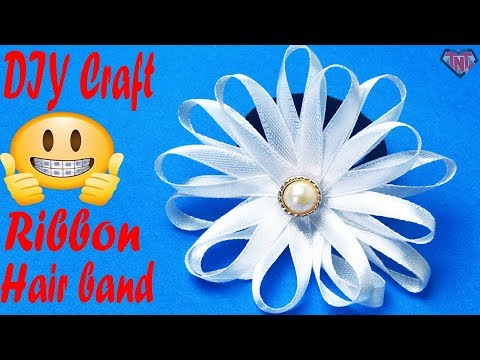 DIY Rubber Band Hair Accessories Ideas 2018 || Easy To Make Ribbon Flower Hair Band For Kid