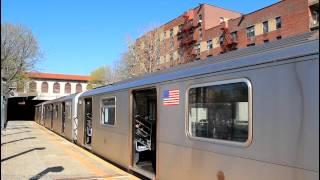 IRT Subway: R142/A (5) Trains at Morris Park