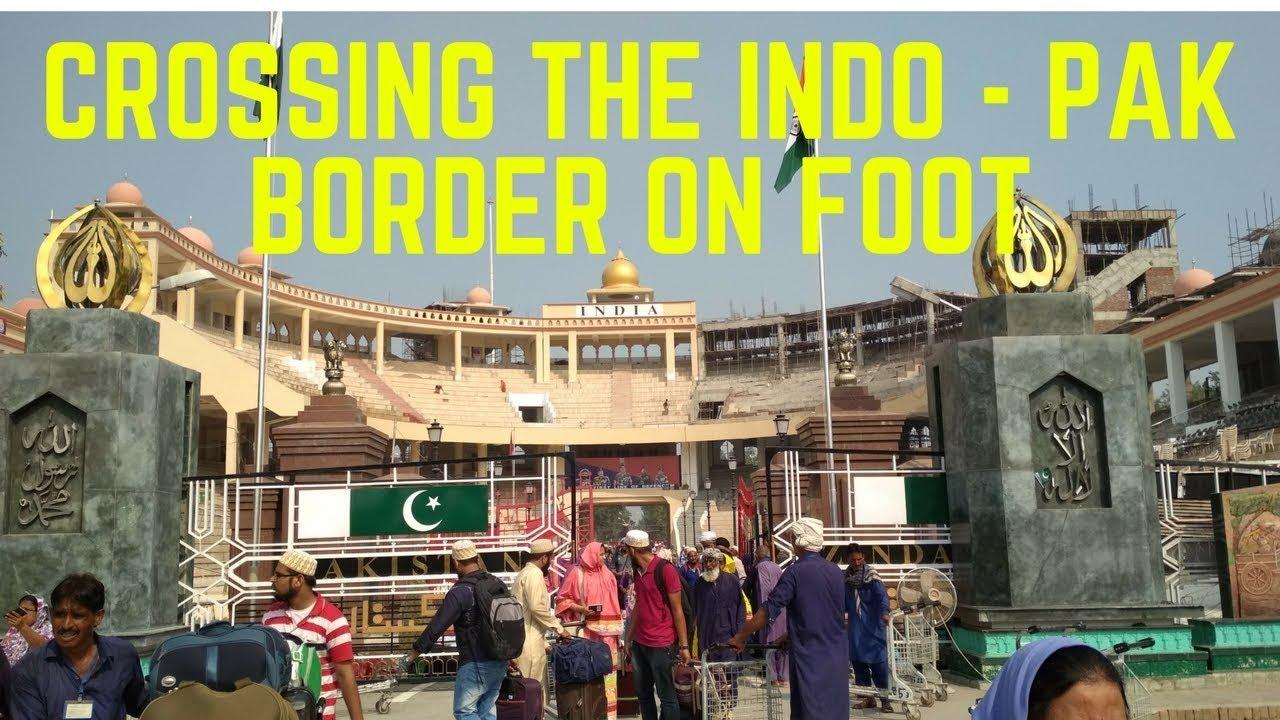 Crossing The India Pakistan Border On Foot Via Wagah Border