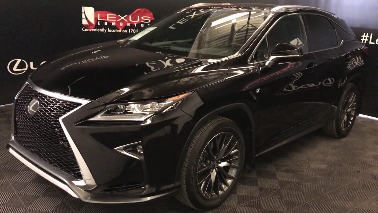 Black 2017 Lexus Rx 350 F Sport Series 2 Review Edmonton Alberta Of