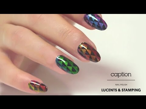 Caption Nail Polish Stamping Plates With Lucents