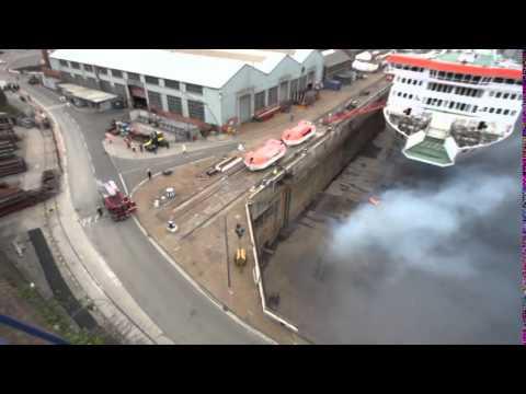 Falmouth Docks Fire 7th May 2014